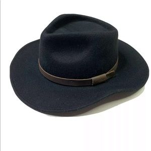 Barbour Crushable Bushman Hat wool leather trim M